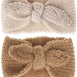 Turban Headband Baby Girl - Warm Rabbit Knot Hair Band, Knit Head Wrap for Newborn, Toddler and C... | Amazon (US)