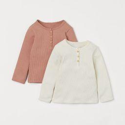 2-pack Long-sleeved Tops | H&M (US)