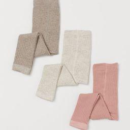 3-pack Ribbed Leggings | H&M (US)
