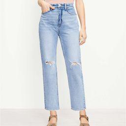 The 90s Straight Jean in Light Authentic Indigo Wash | LOFT | LOFT