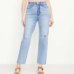 The Curvy 90s Straight Jean in Light Authentic Indigo Wash | LOFT | LOFT