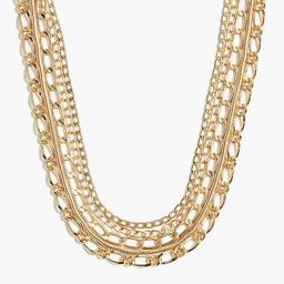 Mixed chain four-layer necklace | J.Crew Factory