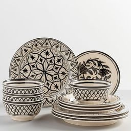 Marrakesh Melamine 12-Piece Dinnerware Set | Pottery Barn (US)