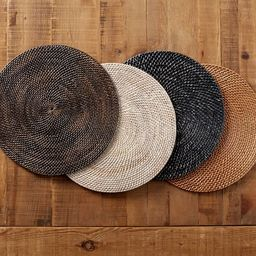 Tava Handwoven Rattan Round Placemat | Pottery Barn (US)
