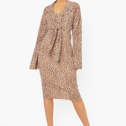Leopard Maxi Dress And Shirt | Boohoo.com (US & CA)