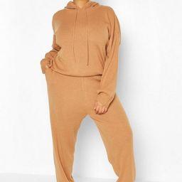 Plus Knitted Hoodie Loungewear Set | Boohoo.com (US & CA)