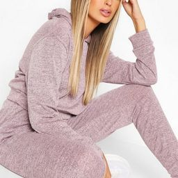 Melange Knitted Hoody And Jogger Two-Piece Set | Boohoo.com (US & CA)