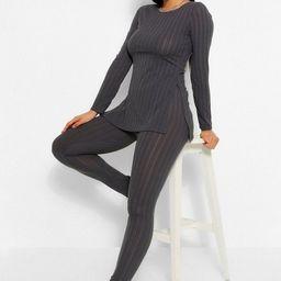 Longline Rib Top & Legging Two-Piece Set | Boohoo.com (US & CA)