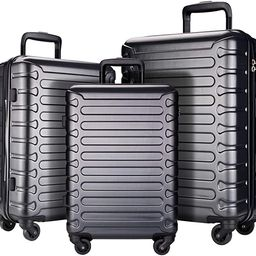 SHOWKOO 3 Piece Luggage Sets Expandable ABS Hardshell Hardside Lightweight Durable Spinner Wheels... | Amazon (US)