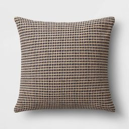 """20"""" Textured Square Outdoor Throw Pillow Navy - Threshold™ designed with Studio McGee 