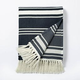 Woven Throw Blanket Navy - Threshold™ designed with Studio McGee | Target