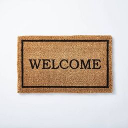 """1'6""""x2'6"""" Welcome Doormat Neutral - Threshold™ designed with Studio McGee   Target"""