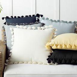 Tassel Trim Indoor/Outdoor Pillows | Pottery Barn (US)