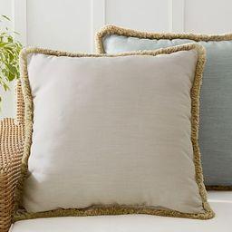 Sunbrella® Solid Fringe Indoor/Outdoor Pillows | Pottery Barn (US)