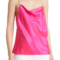 Busy Bead Cowl Neck Stretch Silk Camisole | Nordstrom