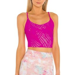 onzie Belle Cami Crop Top in Knockout Pink from Revolve.com | Revolve Clothing (Global)