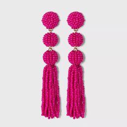 SUGARFIX by BaubleBar Beaded Ball Drop Tassel Earrings | Target