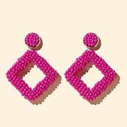 Bead Geometric Drop Earrings | SHEIN