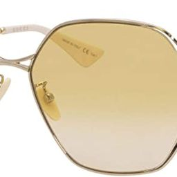 Gucci GG0818SA Gold/Yellow Shaded 63/17/140 women Sunglasses | Amazon (US)