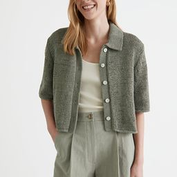 Boxy Collared Knit Cardigan | & Other Stories