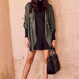 Lucky Break Olive Oversized Jacket | Lulus (US)