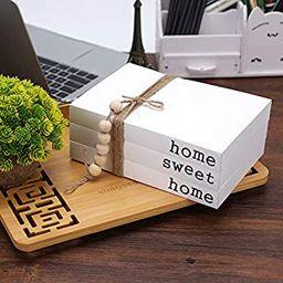 White Decorative Book,Decorative Farmhouse Books, Paperback Book for Modern Decor,Home|Sweet|Home... | Amazon (US)