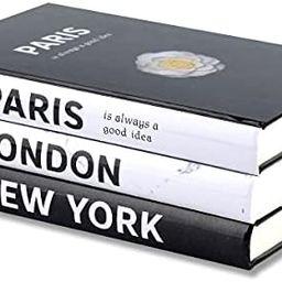 3 Pieces Fashion Decorative Book,Hardcover Modern Decorative Book Stack,Fashion Design Book Set,D... | Amazon (US)