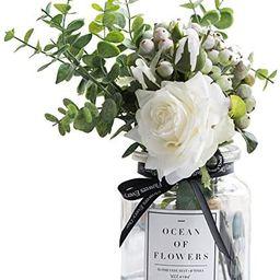 Ins Style Vase with Artificial Flower Set 1 Piece Fake Rose Berry Leaf Floral Flower Arrangement ... | Amazon (US)