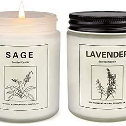 Sage Candles for Home Scented, Aromatherapy Lavender Candle, Soy Wax Candle Set 2 Pack, Women Gif...   Amazon (US)