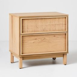 Wood & Cane Transitional Nightstand - Hearth & Hand™ with Magnolia | Target