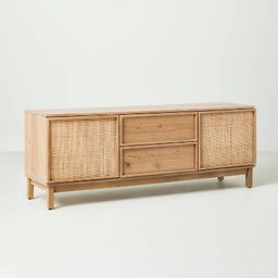 Wood & Cane Transitional Media Console Natural - Hearth & Hand™ with Magnolia | Target