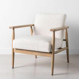 Upholstered Natural Wood Accent Chair - Hearth & Hand™ with Magnolia | Target