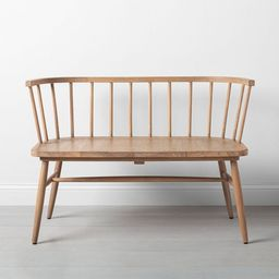 Shaker Dining Bench with Curved Back - Hearth & Hand™ with Magnolia   Target