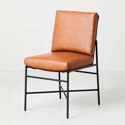 Faux Leather & Metal Dining Chair - Hearth & Hand™ with Magnolia   Target