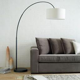 Overarching Linen Shade Floor Lamp | West Elm (US)