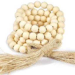 "Farmhouse Decor - Wood Bead Garland, 60"" Boho Decor - Wooden Beads Garland, Coffee Table Decor - ... | Amazon (US)"