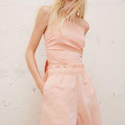 Linen-blend Pull-on Shorts   H&M (US)