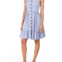 Juniors Ditsy Floral Ruffle Button Front Dress | TJ Maxx