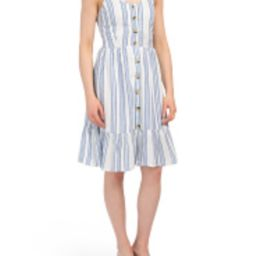 Juniors Button Down Tiered Chambray Dress | Marshalls