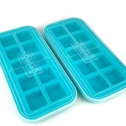 Souper Cubes 2 Tablespoon Freezing Tray with lid, Aqua color, Pack of Two   Amazon (US)