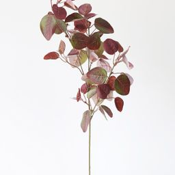 """Burgundy UV Protected Outdoor Fake Cotinus Leaves - 34"""" Tall 