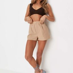 Brown Rib Plunge Knit Bralette   Missguided (US & CA)