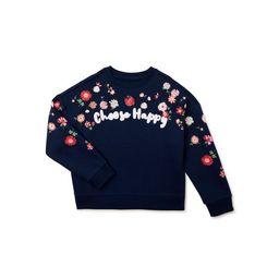 Wonder Nation Girls' Crewneck Embellished Graphic Sweatshirt, Sizes 4-18 & Plus   Walmart (US)