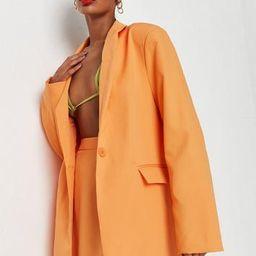Neon Orange Co Ord Oversized Blazer   Missguided (US & CA)