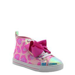 Nickelodon Jojo Siwa Little Girl & Big Girl Pink Leopard Athletic High Top Sneaker   Walmart (US)
