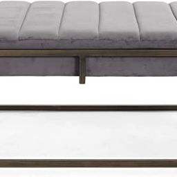 Great Deal Furniture Vassy Glam Velvet Ottoman Bench, Gray | Amazon (US)