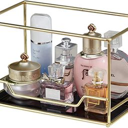 Vintage Mirrored Glass Stackable Perfume Tray/Gold Black Mirror Metal Palette/Mask Tray for Makeu...   Amazon (US)
