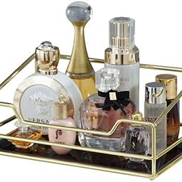 Hersoo Stackable Classic Vanity Tray/Ornate Decorative Perfume/Elegant Mirrorred Tray for Skincar...   Amazon (US)