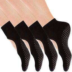 Yoga Socks Non Slip Skid Pilates Ballet Barre with Grips for Women by Cooque   Amazon (US)