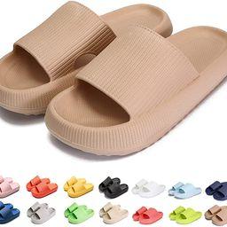 Pillow Slides Slippers Massage Shower Super Soft Thick Soled Unisex Household Sandals Floor Non-S...   Amazon (US)